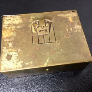 Austrian-crafted LION ART DECO Brass Box