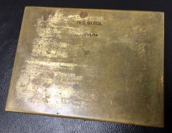 Austrian-crafted LION ART DECO Brass Box
